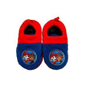 Paw Patrol blue red soft cushion slippers kids 12